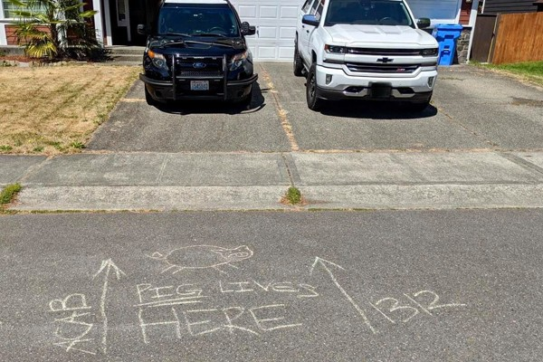 Across the country, police officers' homes, cars, and property are being vandalized and defaced