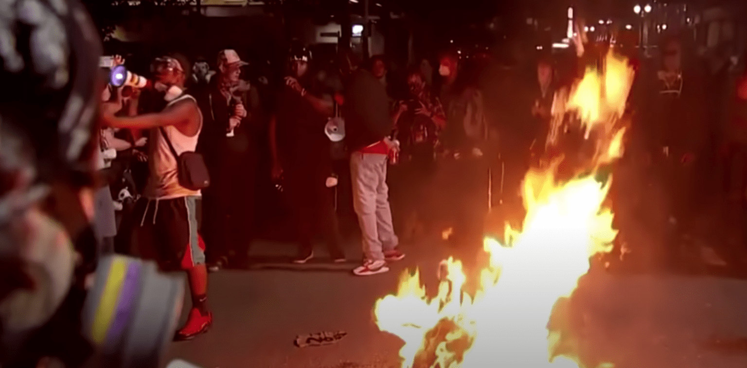 Editorial: Portland's 'peaceful' protest Friday night included bonfires to burn Bibles, American flags