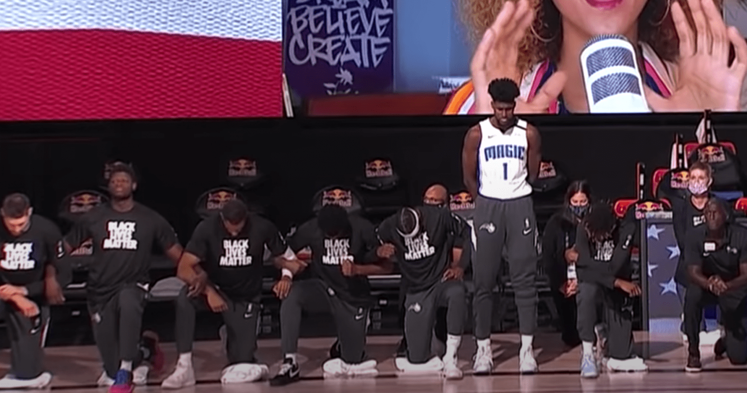 Every Orlando Magic player kneels for anthem except one; and the ratings show how Americans feel about it