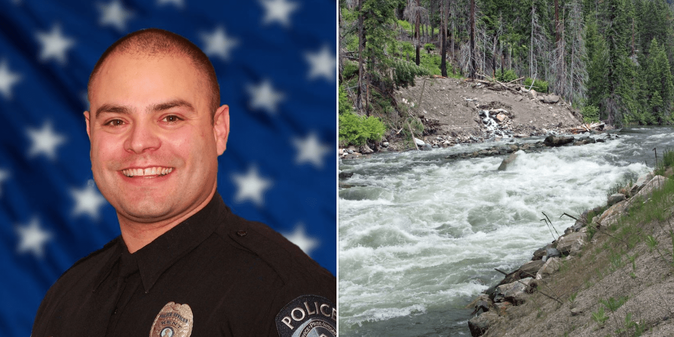Two off-duty officers save 5-year-old boy drowning in river after he was swept away by heavy currents