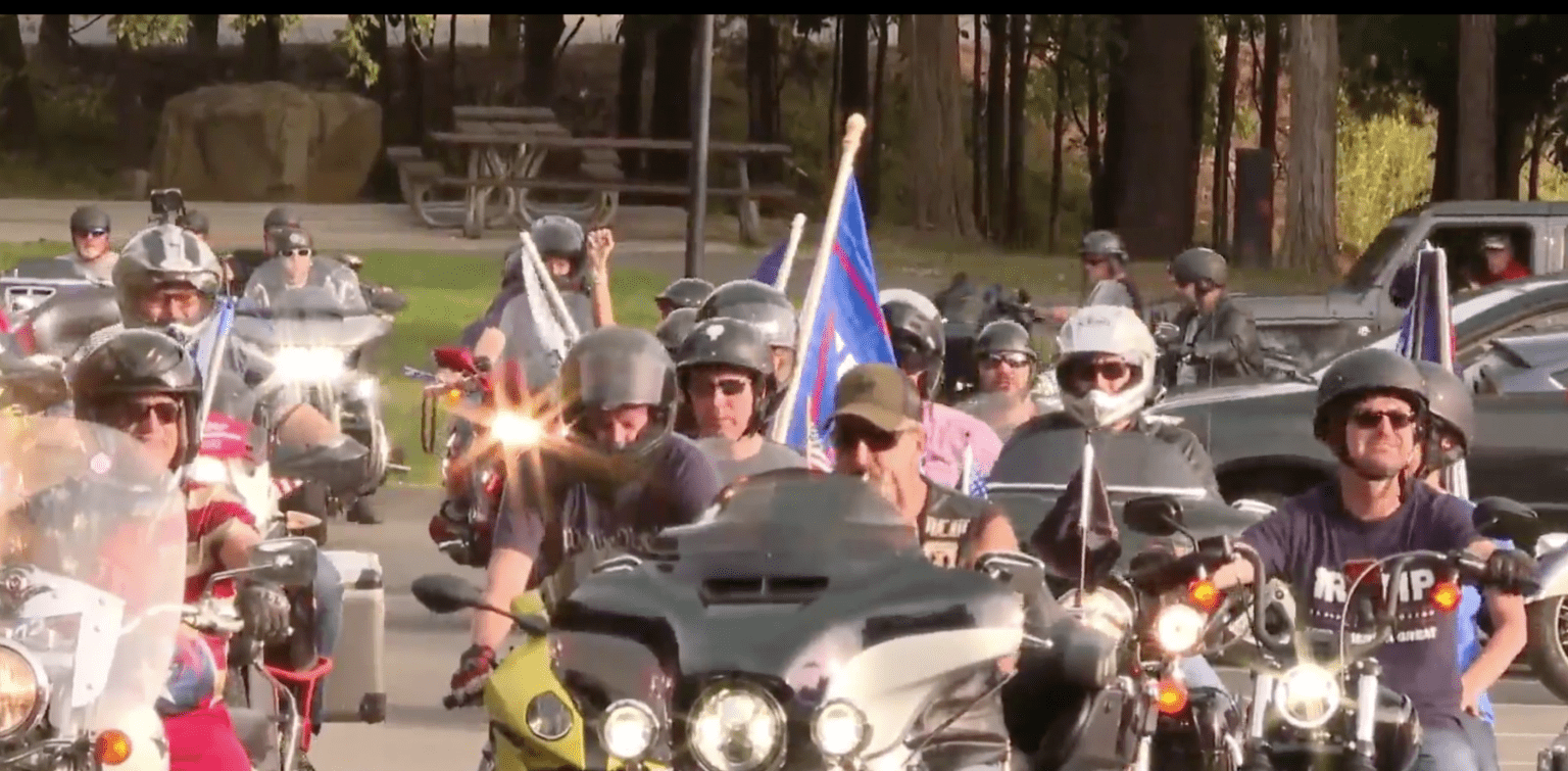 Bikers gather in rally for President Trump and the police: 'Hey America - we're starting to get louder'