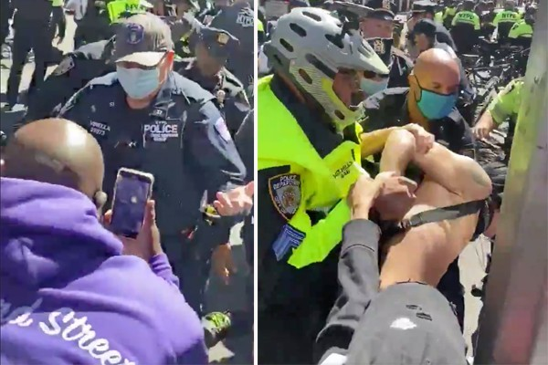 Police arrest nearly 90 abolish ICE protestors for blocking trafficking in New York City