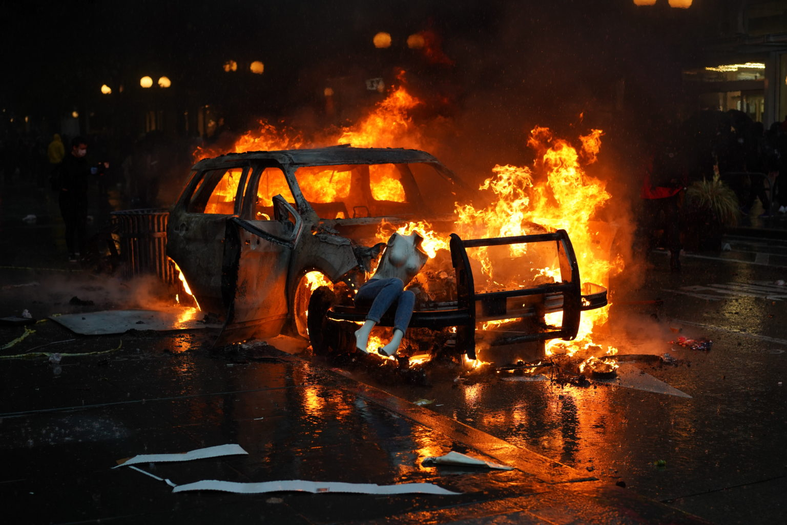 In Seattle, riot and attack police, then file a lawsuit against them for using force