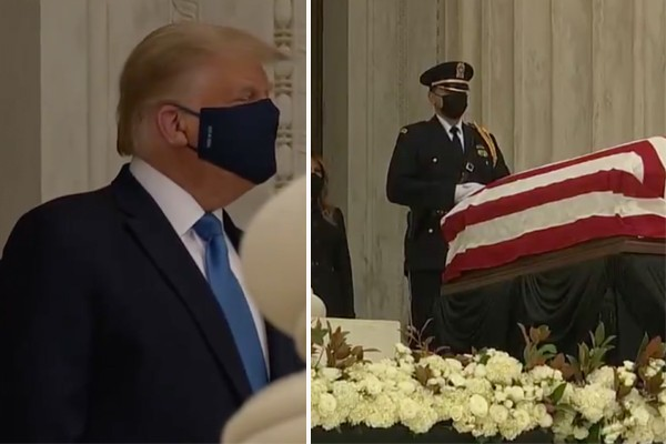 Democrats scream, boo at President Trump while he honors Justice Ginsburg at her casket (op-ed)