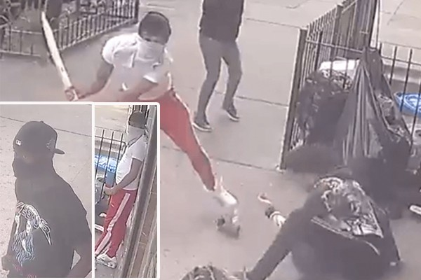 Find them: Two suspects beat, slash man in neck outside deli in de Blasio's New York City