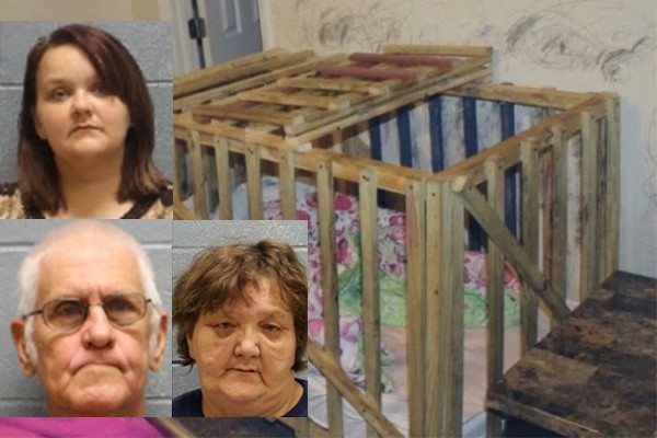 Mom, grandparents accused of locking 5 starving kids in fecal-covered, bug-infested cages