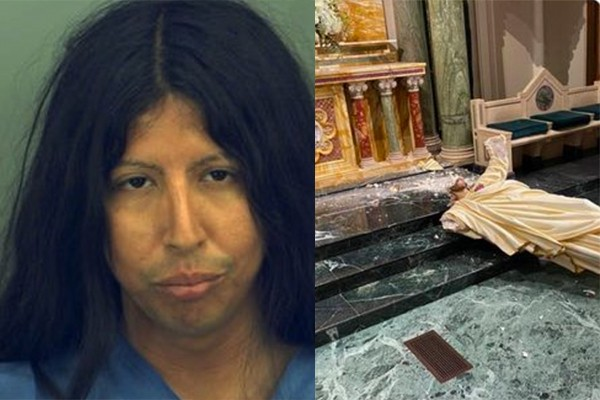 Caught: man who destroyed sacred St. Patrick Cathedral statue said that Jesus' skin color was wrong