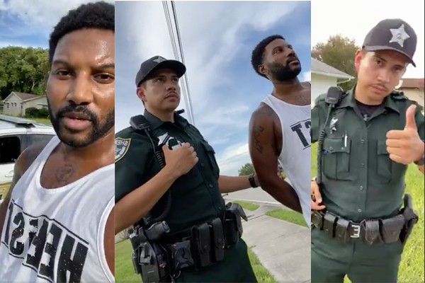 Black male stopped by deputies looking for burglary suspect. He was so professional that he was offered a job.