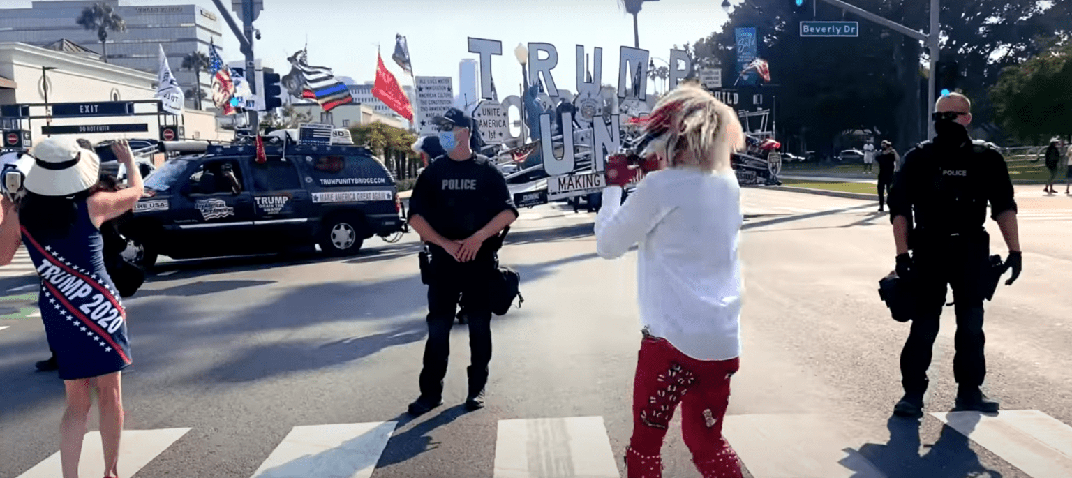 Watch: LGBT activist Ricky Rebel turns BLM riot into pro-Trump, pro-police dance party