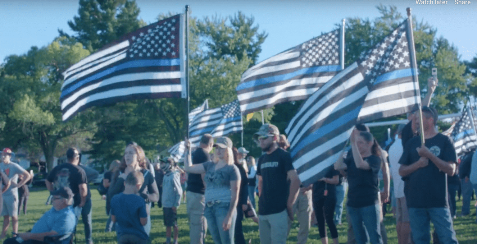 """County commissioner rips school superintendent for banning """"Thin Blue Line"""" flag from academic functions"""