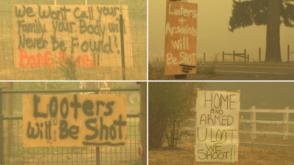 Homeowners in Oregon issue deadly warning to looters looking to break into homes during evacuations