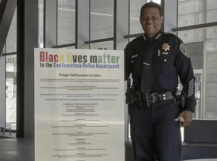San Francisco PD unveils mandatory Black Lives Matter signs to be hung in every police station lobby