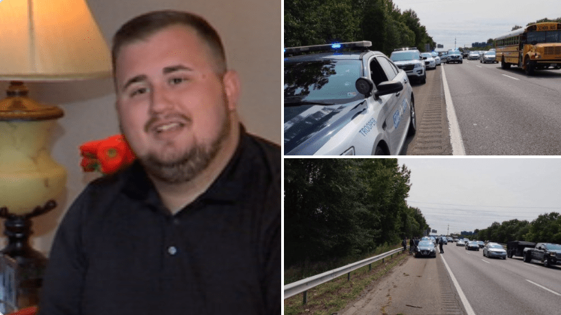 Good Samaritans save a state trooper's life during a brutal attack on the side of the road