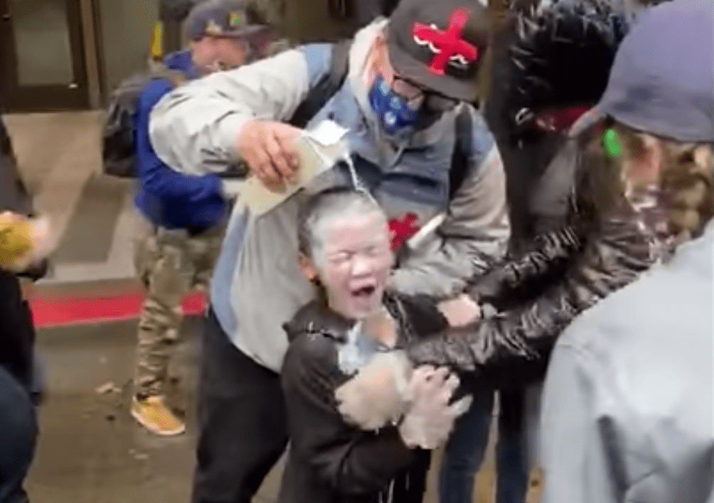 Officer cleared after pepper-spraying child at Seattle protest because the kid wasn't his target