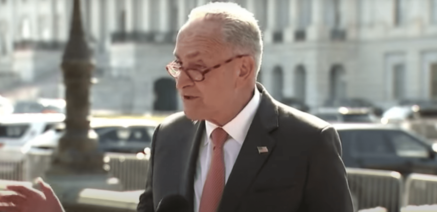 "Sen. Chuck Schumer roasted while addressing crowd: ""You ain't doing sh-t. Stop lying to the people."""