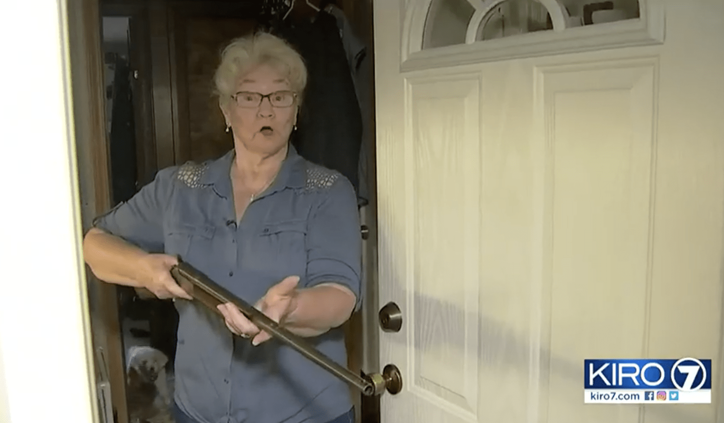 Man trying to break into home finds grandma armed with a shotgun - holds him until police arrive