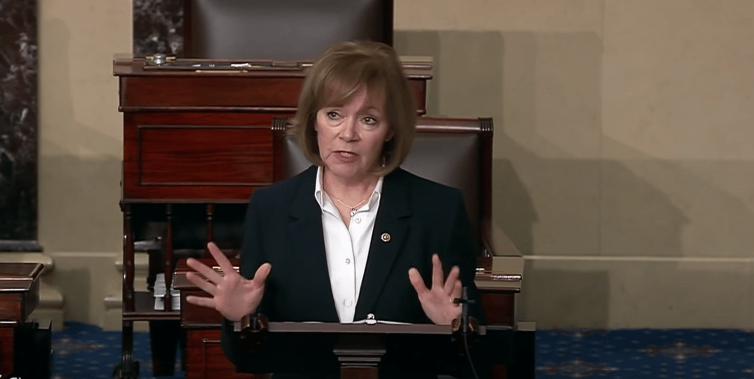 Despite spreading anarchy, Democrat Sen. Tina Smith is pushing for gun and magazine bans