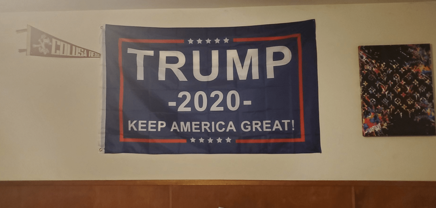 """California high school teacher threatens to kick student out of class for """"Trump 2020"""" flag on bedroom wall"""