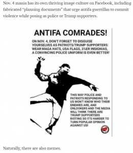 Is there an Antifa riot planned for the day after the election?  Here are the rumors - and what we found.
