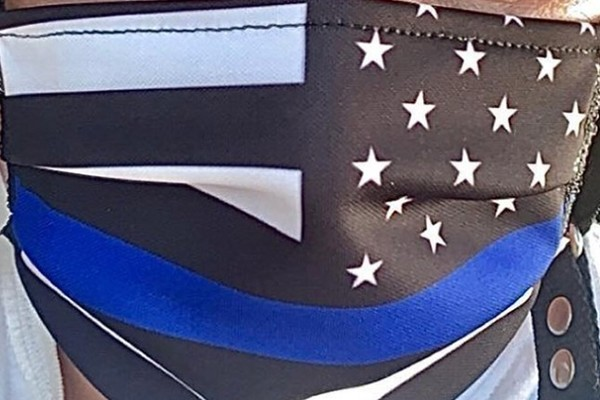Maryland court workers barred From wearing 'Thin Blue Line' masks