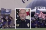 A Florida high school football game that featured the Blue Lives Matter flag and anthem kneeling ended up in a brawl