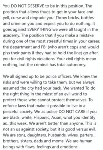 Sgt. Jon Mattingly's email to LMPD. From Twitter.
