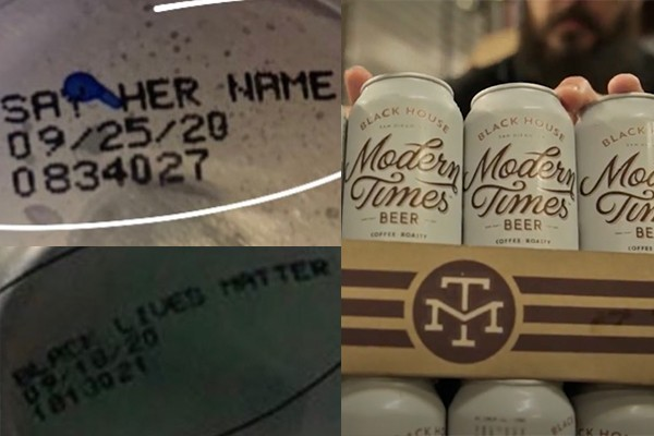"""Beer company prints """"Black Lives Matter"""", """"Say Her Name"""" on beer cans - doubles down on slamming police"""