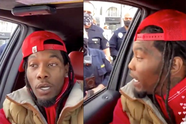 "Rapper ""Offset"" detained by police during Instagram livestream at Trump rally after reports of someone waving a gun"