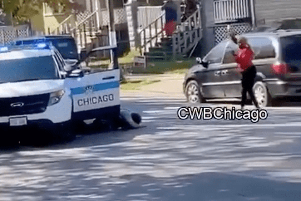 Watch: Chicago woman intentionally drives into three cops making traffic stop - again and again