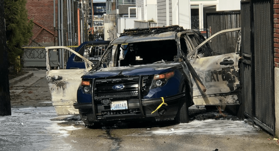 Breaking: Officers ambushed, patrol vehicle set on fire while police were inside it - no details released on suspect