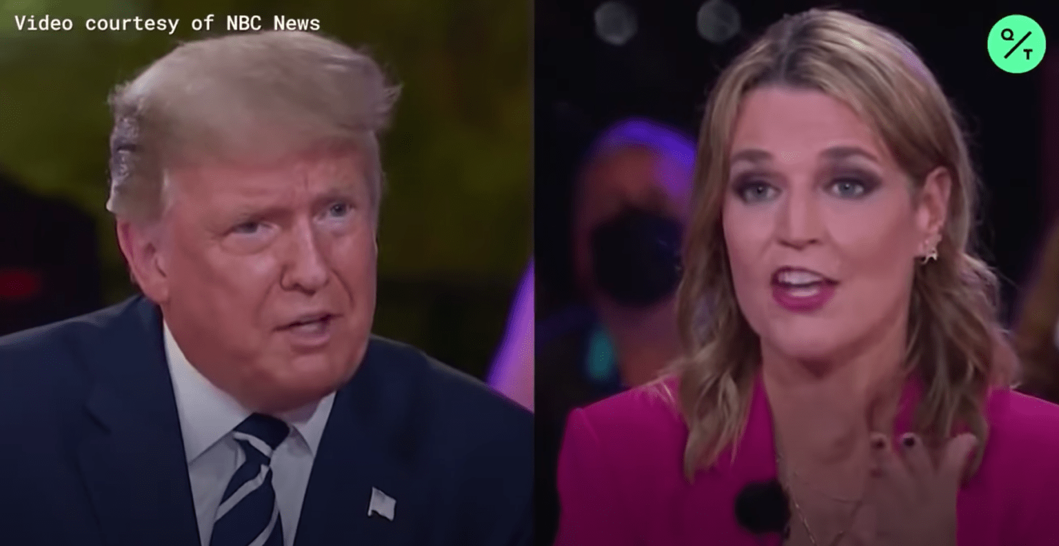 "Trump-bashing biased moderator Savannah Guthrie made a mockery of herself and NBC in the ""Town Hall"""