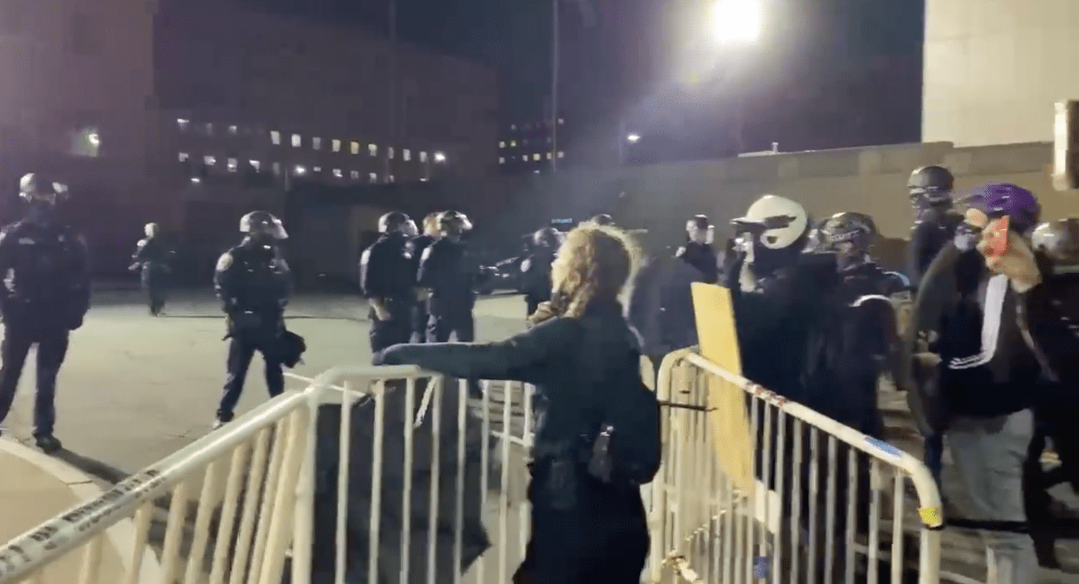 Rioters storm public safety building, attack officers after police arrest a man - three cops hospitalized