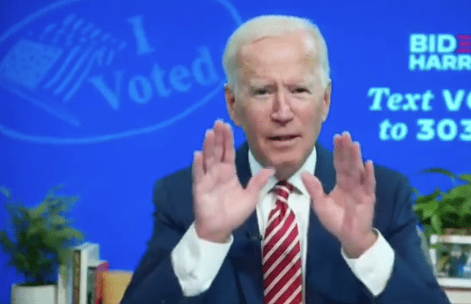 "Joe Biden ""gaffe""? Claims his campaign assembled most extensive voter fraud organization in history of US."