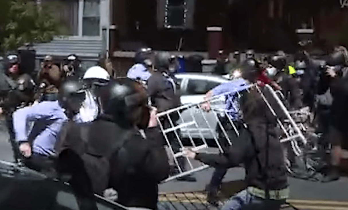 As Philadelphia erupts in mass rioting, the city council votes to ban crowd control weapons