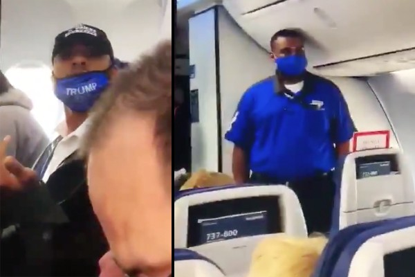 """Southwest Airlines boots African American man wearing Trump gear for """"mask violation"""""""