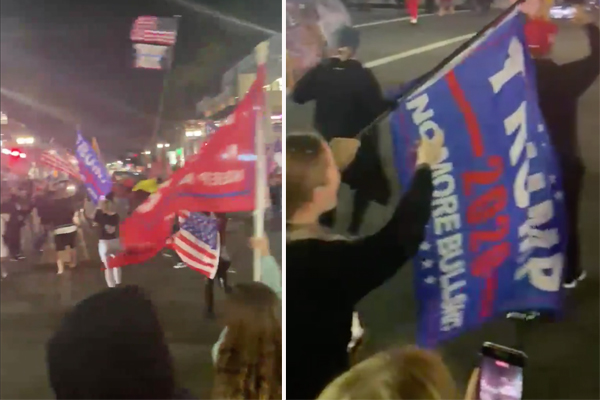 Thousands of Californians hit the streets to protest Gov. Newsom's latest curfew order, show support for President Trump