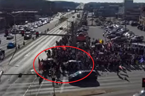 Report: Angry and unhinged liberal plows through crowd of Trump supporters with car in Wisconsin