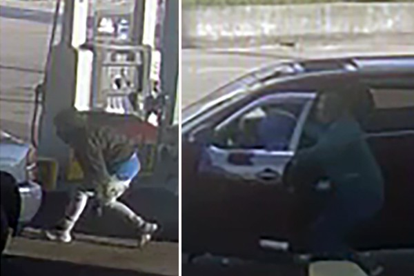 Watch: Fast-moving driver fights off armed robber at gas station in latest of string of carjackings