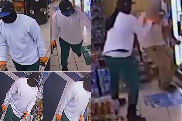 Video: Houston police searching for suspect in violent pistol whipping attack of store clerk