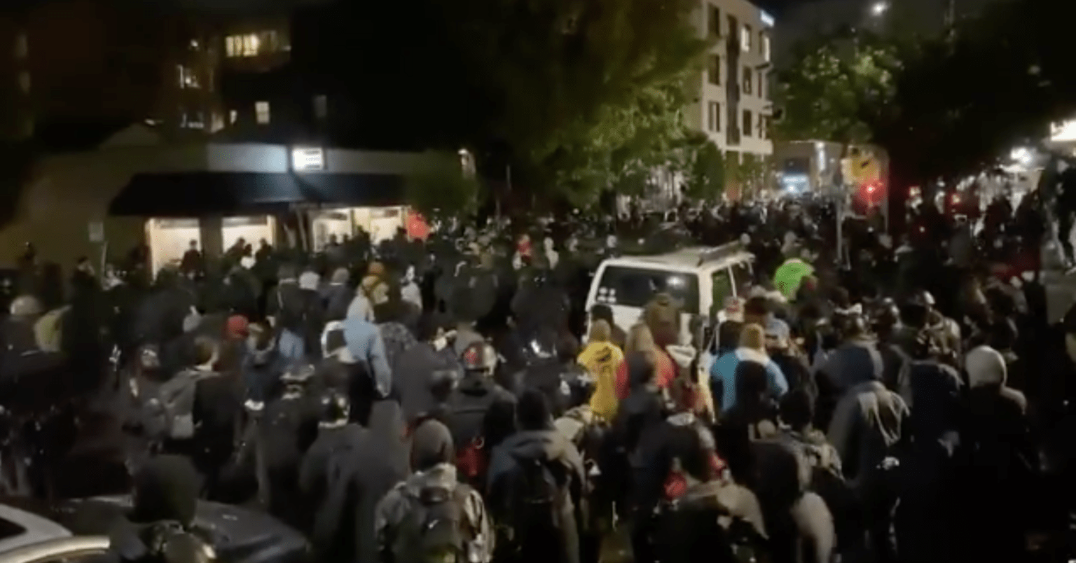 Armed Antifa and Black Lives Matter supporters shut down roads in residential areas of Portland: 'Come out of your house'