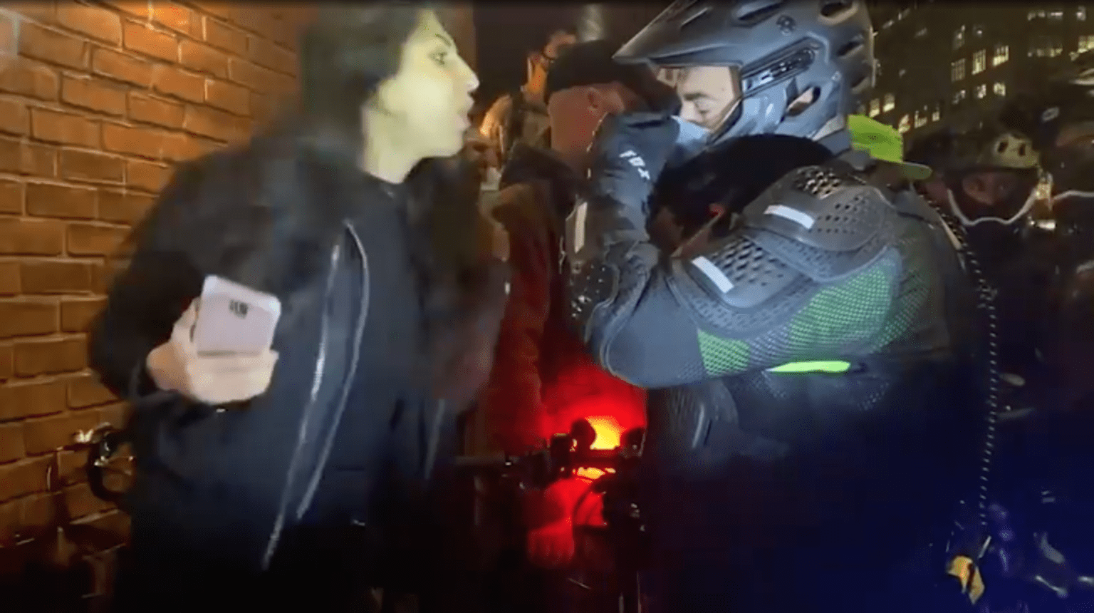 Woman charged with spitting in NYPD sergeant's face at Manhattan protest: 'F— you, fascist!'
