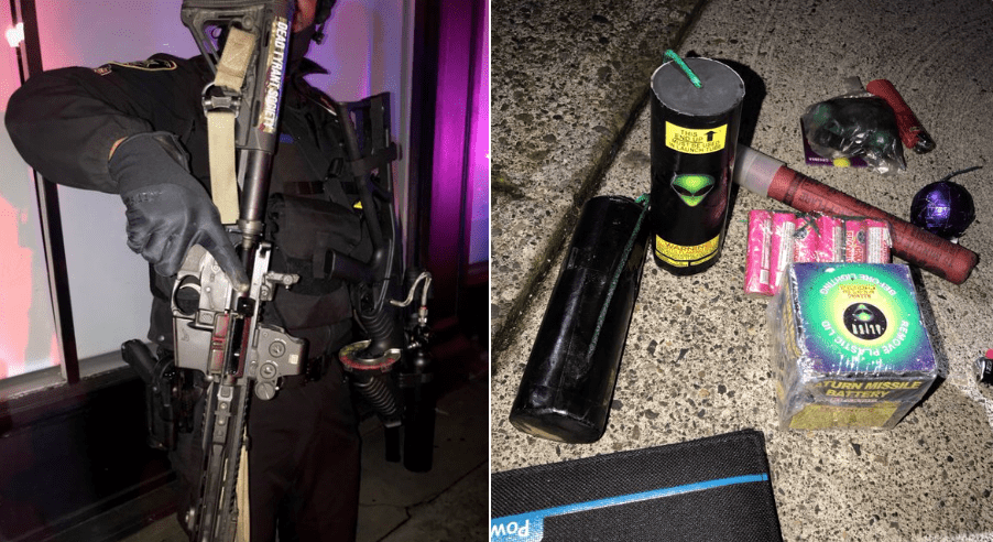 Total anarchy in Portland as National Guard, police seized loaded rifles, explosives, knives from huge mob of rioters