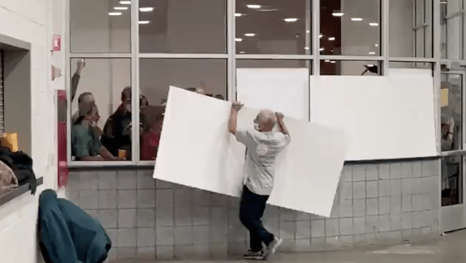 Watch: Detroit workers block windows, bar observers from watching absentee ballot counting
