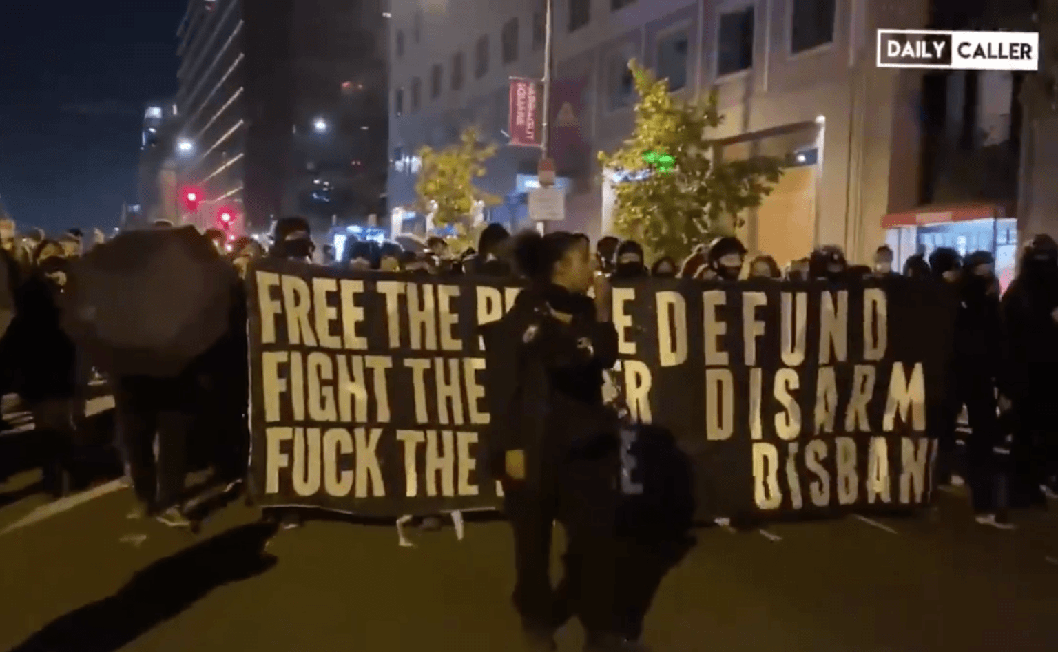 Watch: Black Lives Matter shouts 'Burn it Down' during march in Washington D.C.