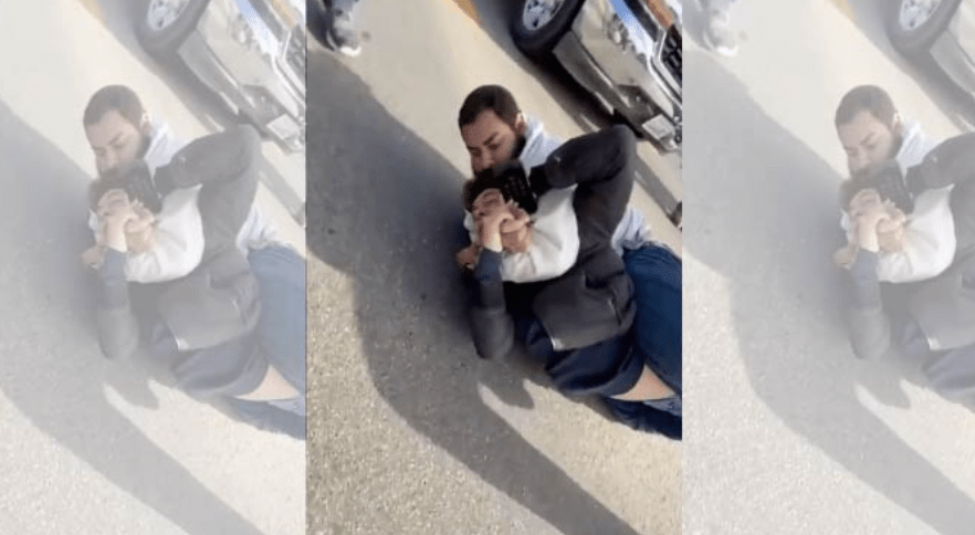 Watch: Trump supporters pin down violent liberal who crashed car into a Trump-rally caravan