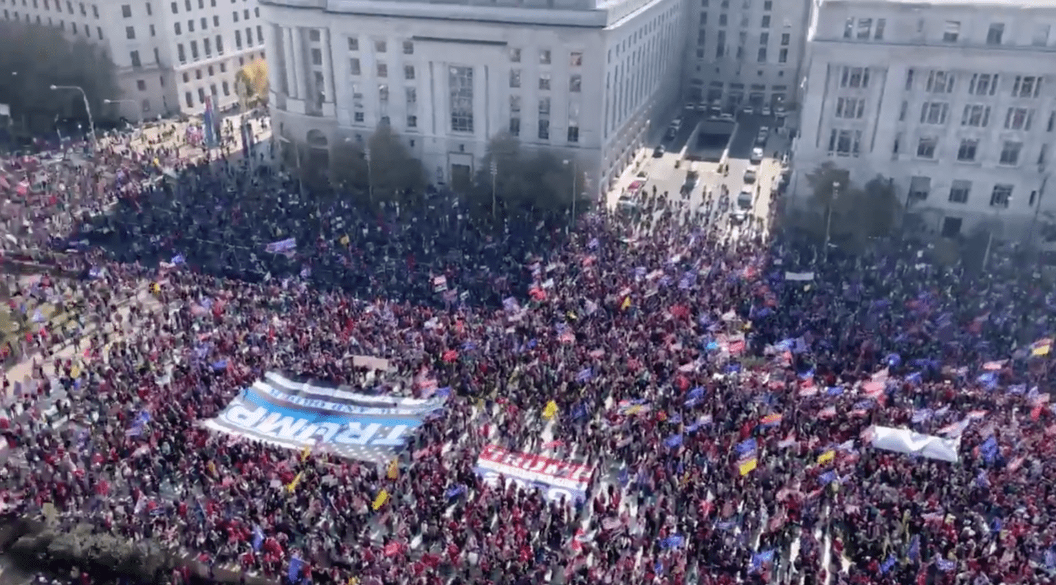 Million MAGA March in DC interrupted by Antifa and Black Lives Matter violence