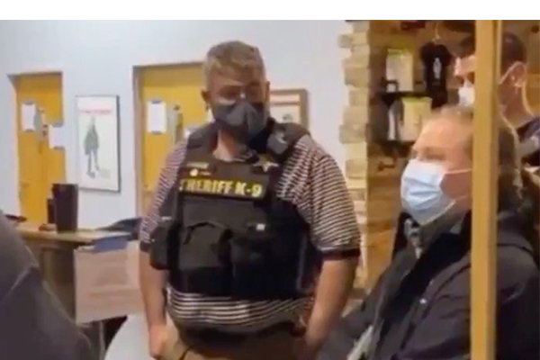 'Get out! Go get a warrant!' New York business owners kick out sheriff and 'health inspector'