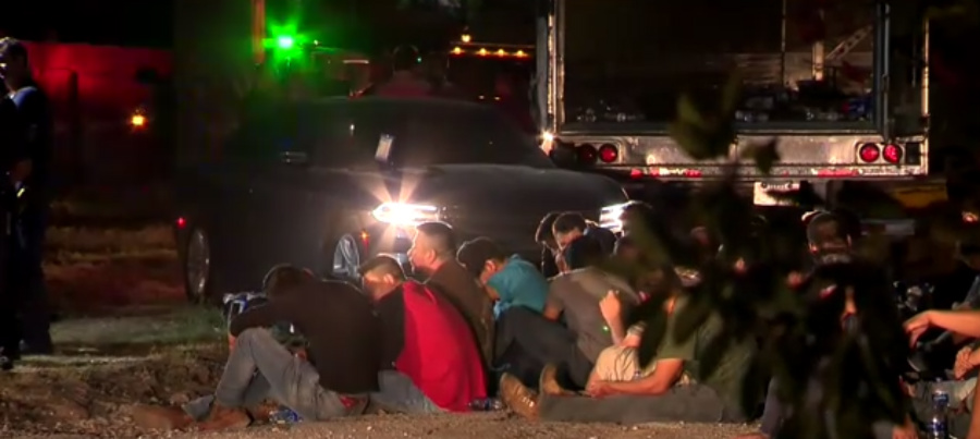 Illegal immigrants located in Texas - Screenshot courtesy of ABC News