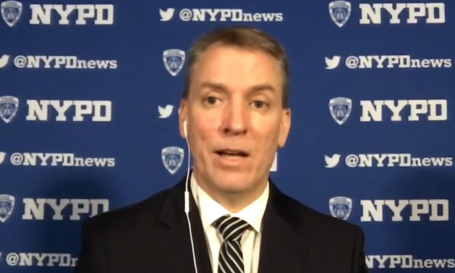 NYPD Commissioner Dermot Shea - Screenshot courtesy of CBS News on YouTube