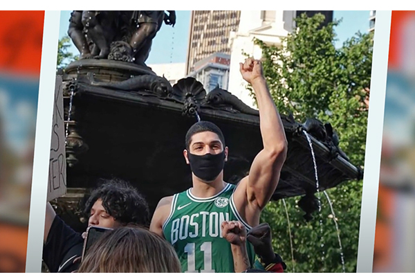 """Boston Celtics, protected by cops, demand that the Massachusetts governor """"beef up"""" police defunding bill"""